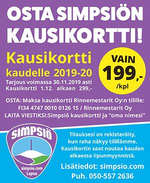 Simpsiö | Osta tarjouskausikortti 2019-20